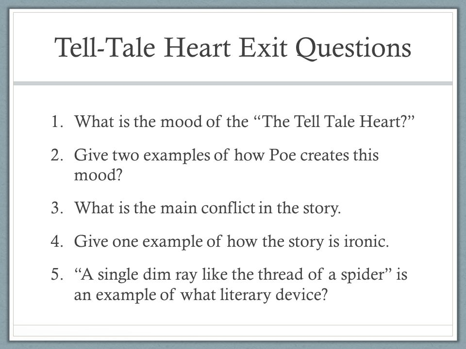 Tell Tale Heart Ppt Video Online Download