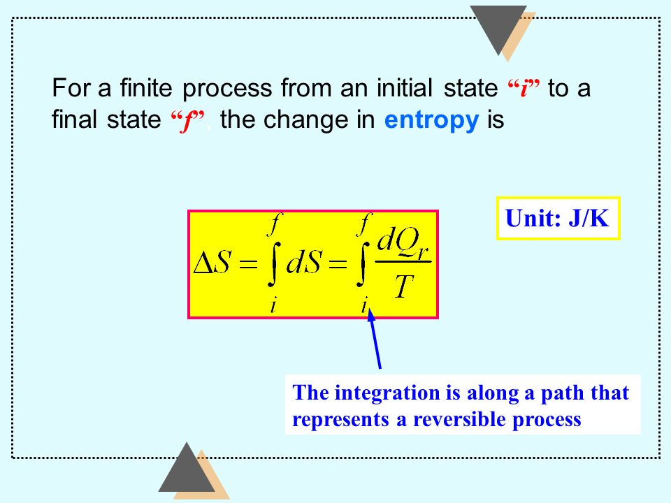 For a finite process from an initial state i to a