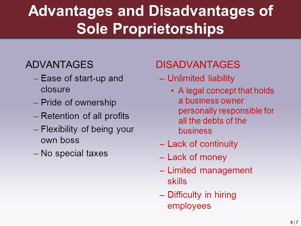advantages and disadvantages of sole proprietorships - Being Your Own Boss Advantages And Disadvantages