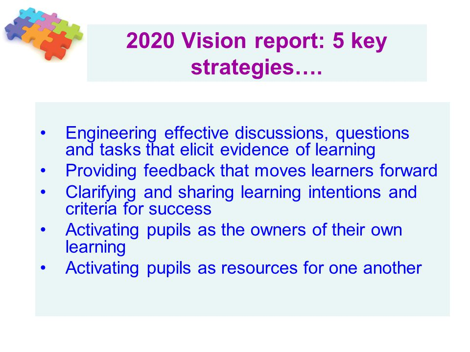 2020 Vision report: 5 key strategies….
