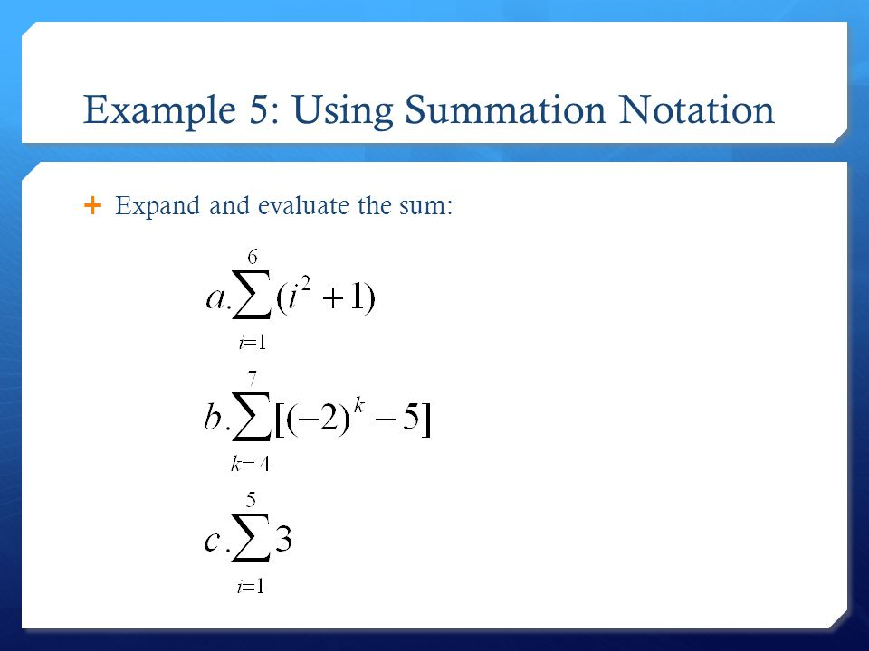 Write an expression for the model find the sum calculator