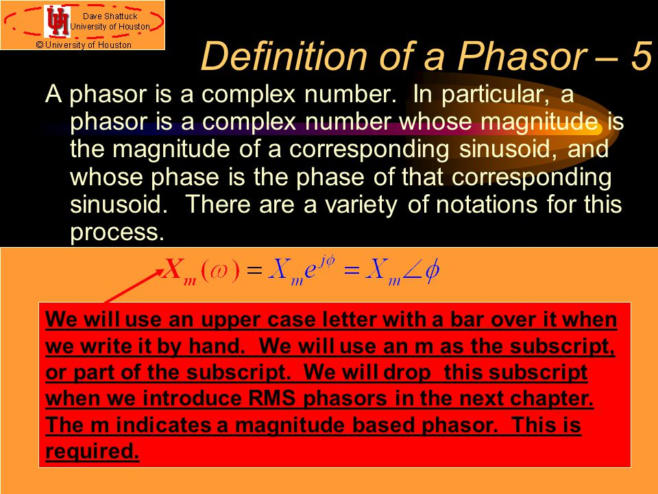Definition of a Phasor – 5