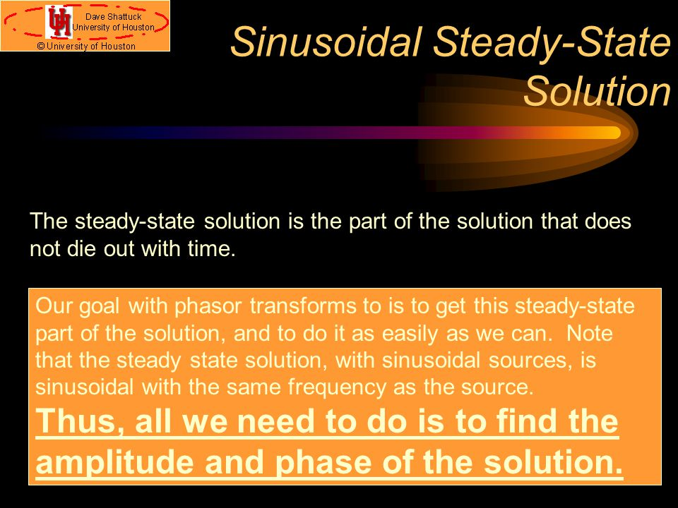 Sinusoidal Steady-State Solution