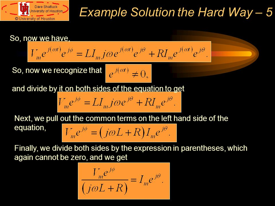 Example Solution the Hard Way – 5