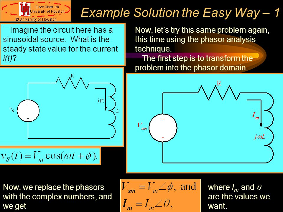 Example Solution the Easy Way – 1