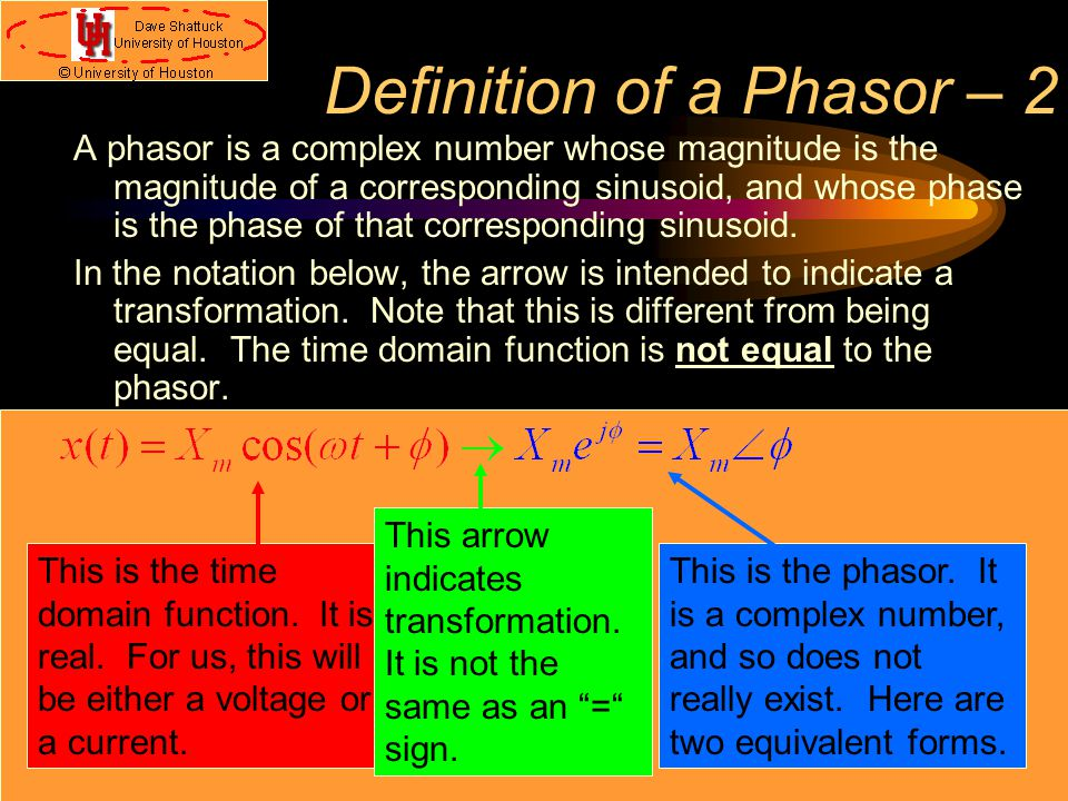 Definition of a Phasor – 2