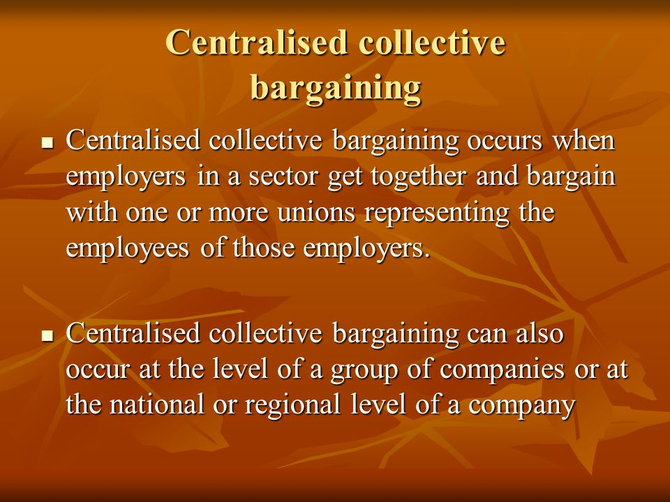 an analysis of collective bargaining in companies This article begins by differentiating industrial relations (ir) from human resource management (hrm) for the purposes of this analysis, ir is best seen as relating to the collective relationship between employers and workers, whose main expression is a collective bargaining agreement.