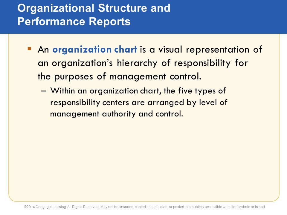 responsibility centers within organizations Advertisements: read this article to learn about the concept and types of responsibility centers concept of responsibility centers: any organizational or.