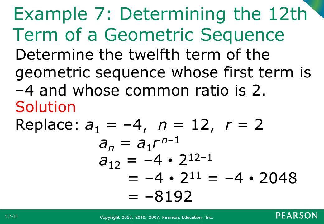 Section  Arithmetic And Geometric Sequences  Ppt Video Online