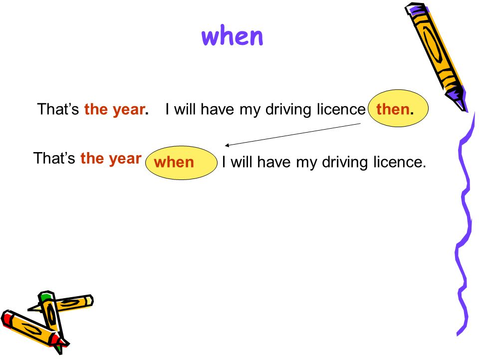 when That's the year. I will have my driving licence then.