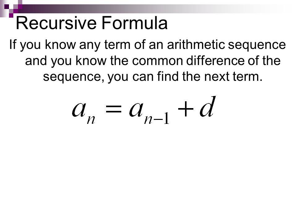 How do you write a recursive rule for a sequence
