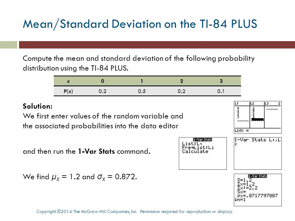 Section 51 random variables ppt download meanstandard deviation on the ti 84 plus ccuart Images