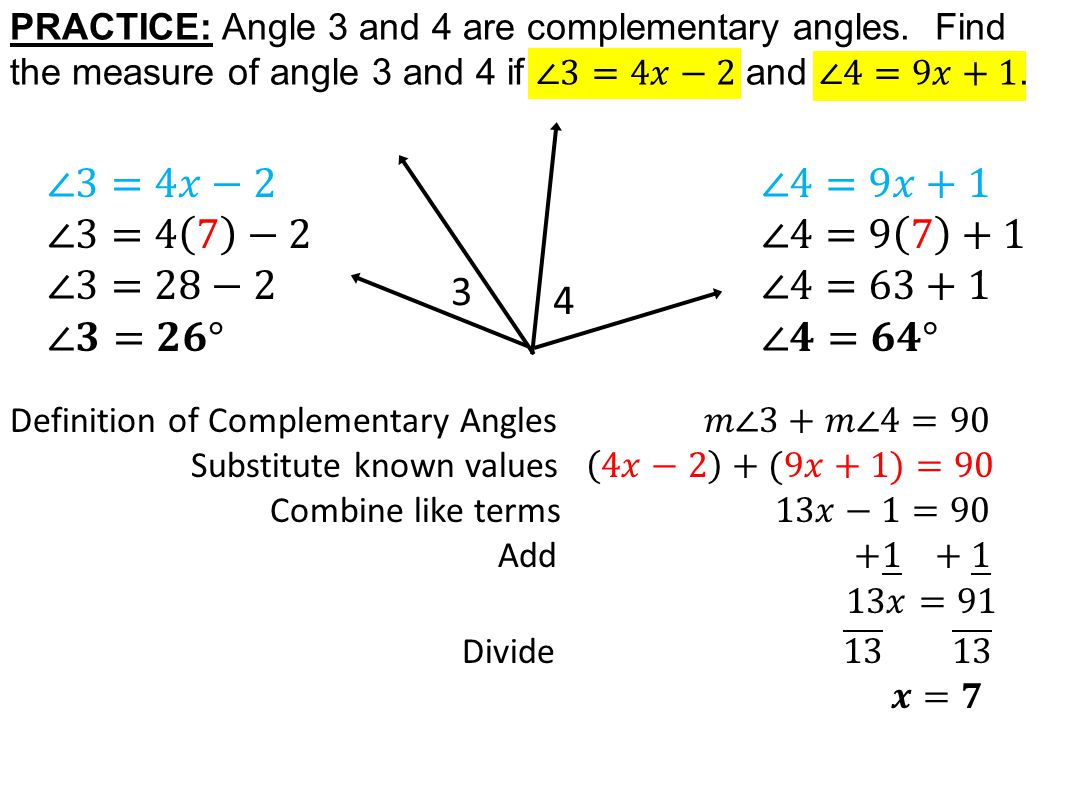 Today In Geometry Learning Goal 15 Angle Pair Relationships
