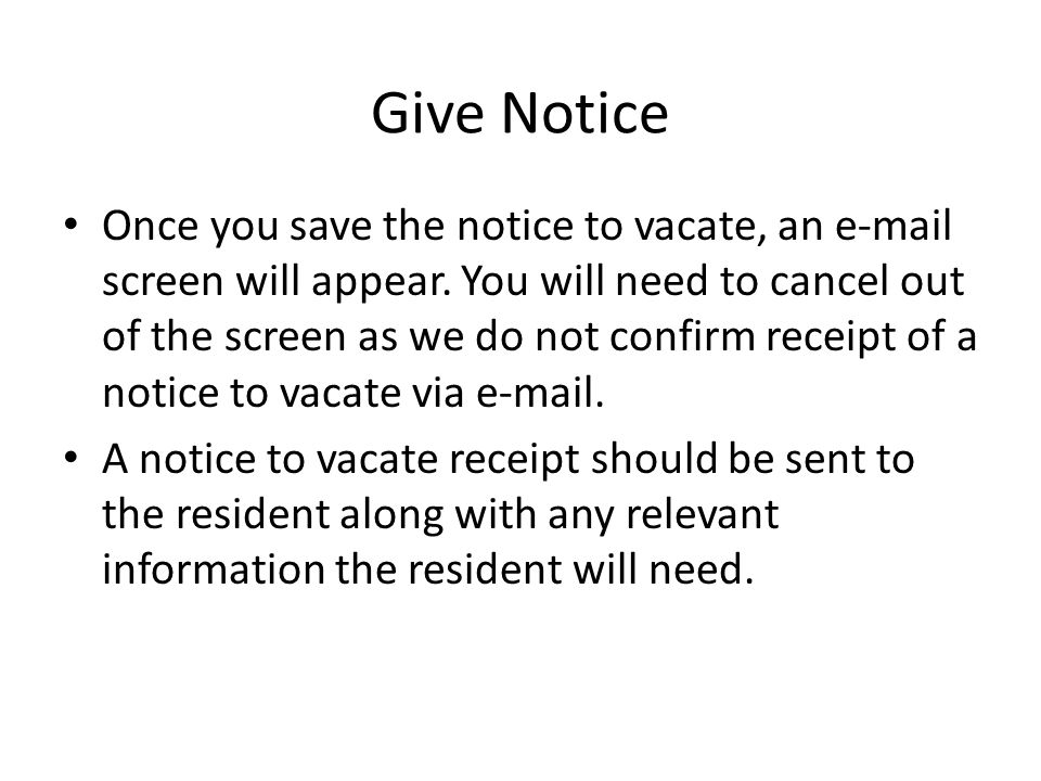 Give Notice