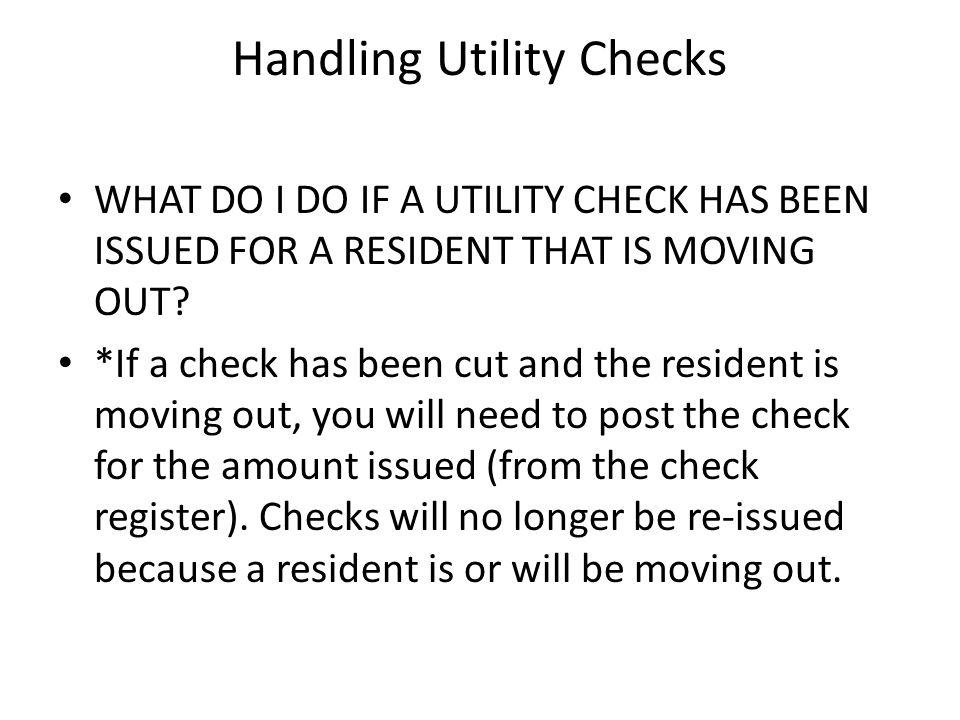 Handling Utility Checks