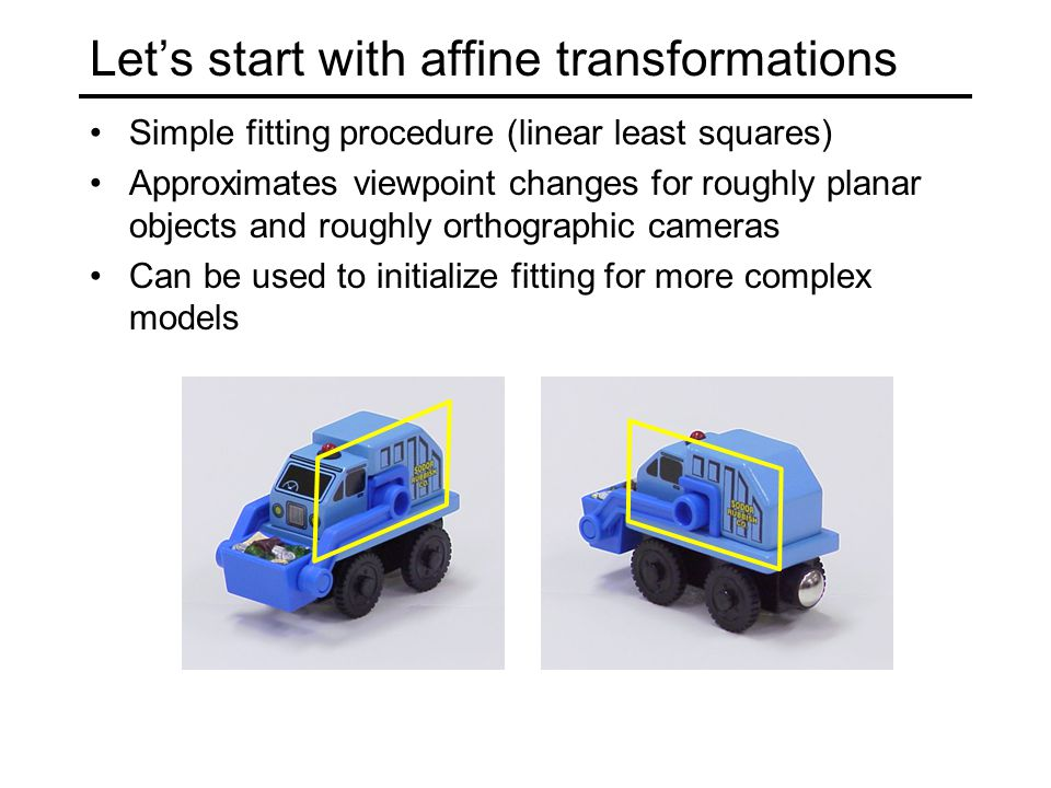 Let's start with affine transformations