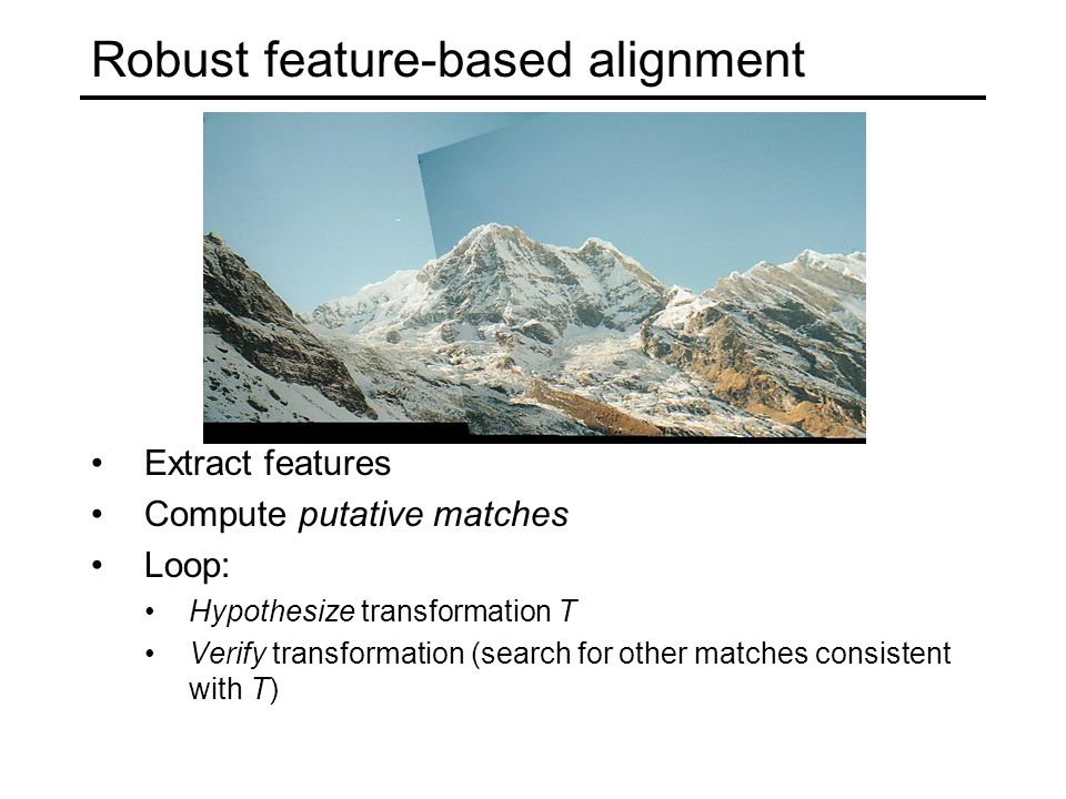 Robust feature-based alignment