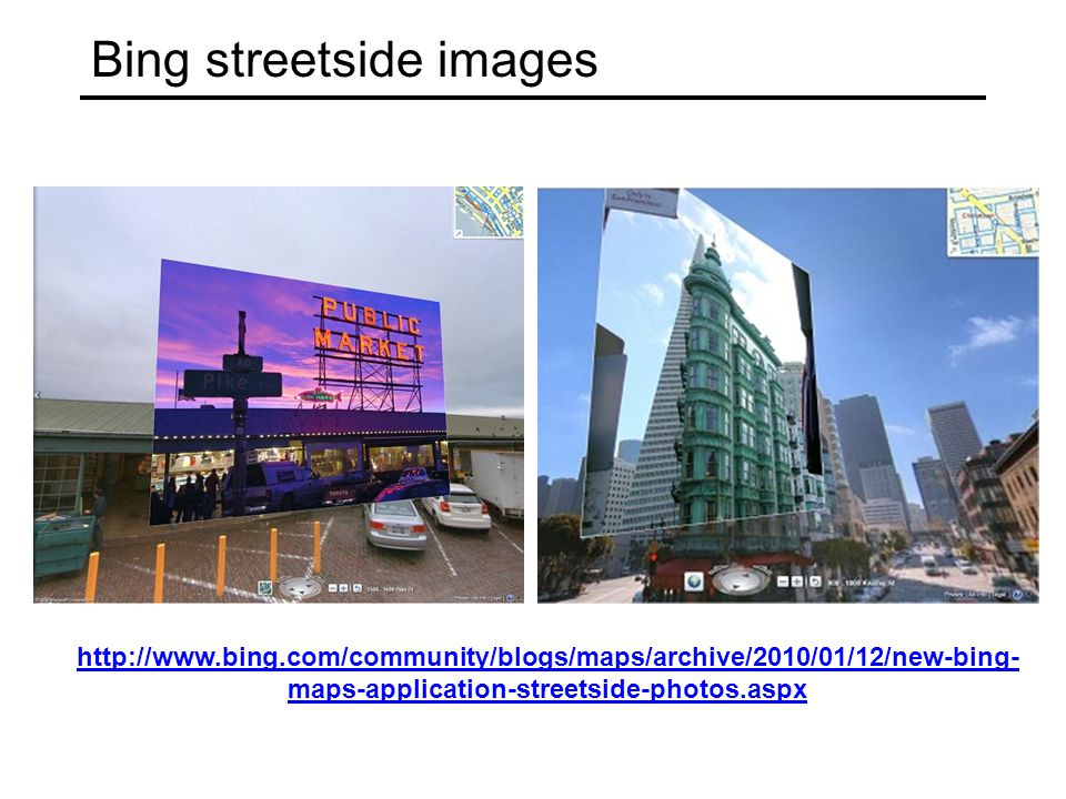 Bing streetside images
