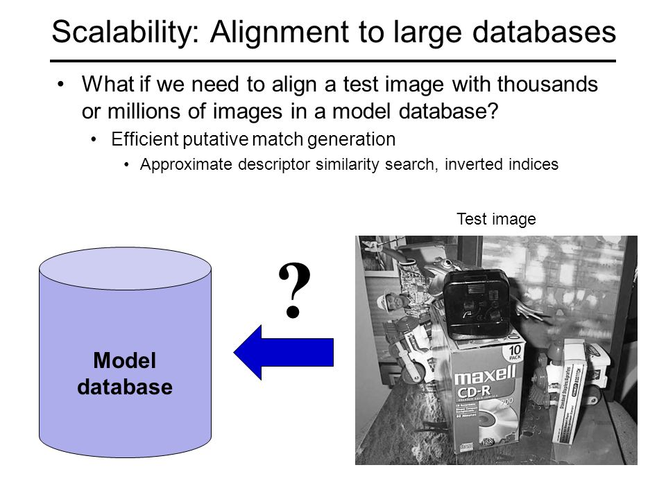 Scalability: Alignment to large databases