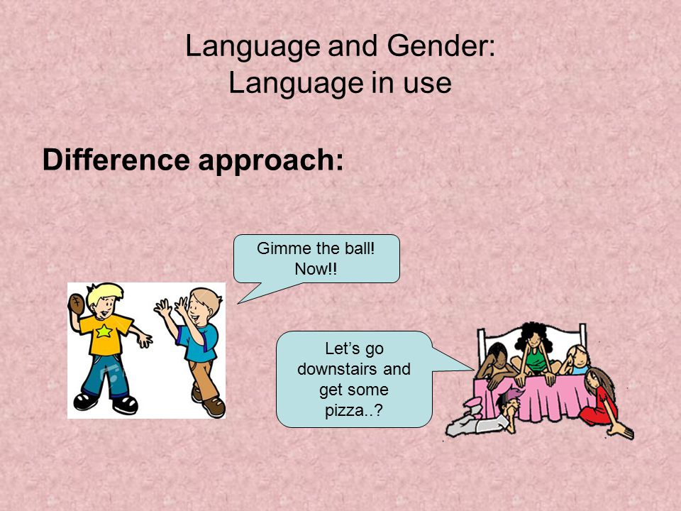 Idea Language sex and gender authoritative
