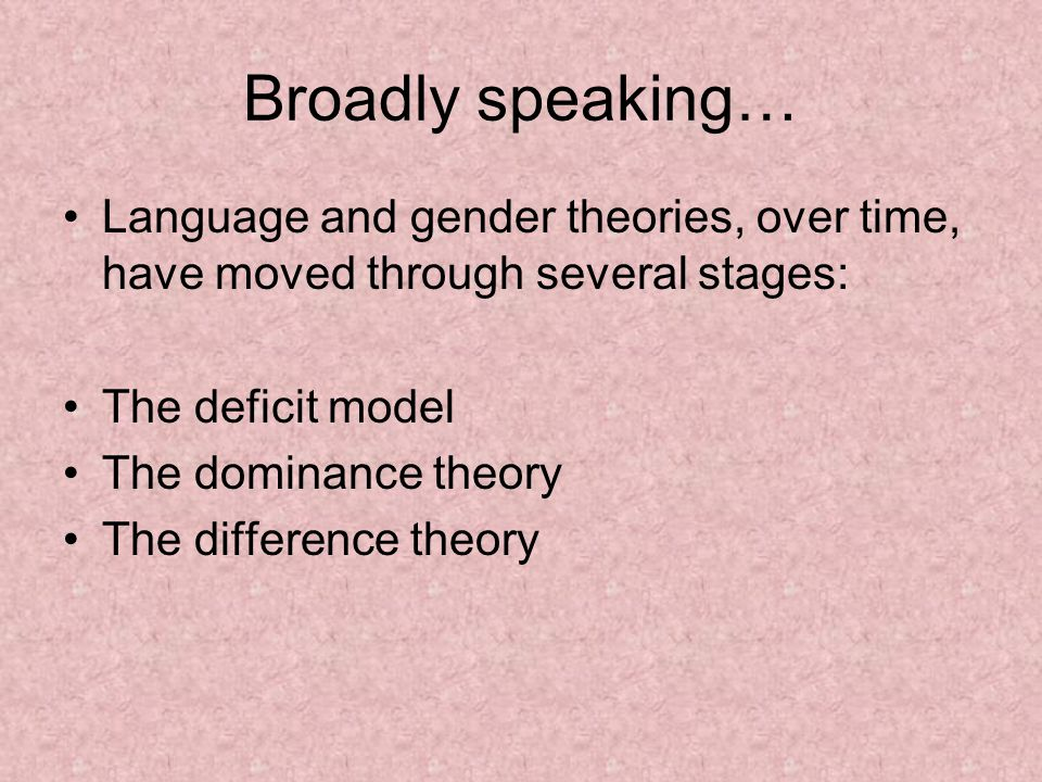 language and gender What this handout is about this handout will help you make decisions about using gendered language in your writing what is gendered language, and why should you be aware of it.