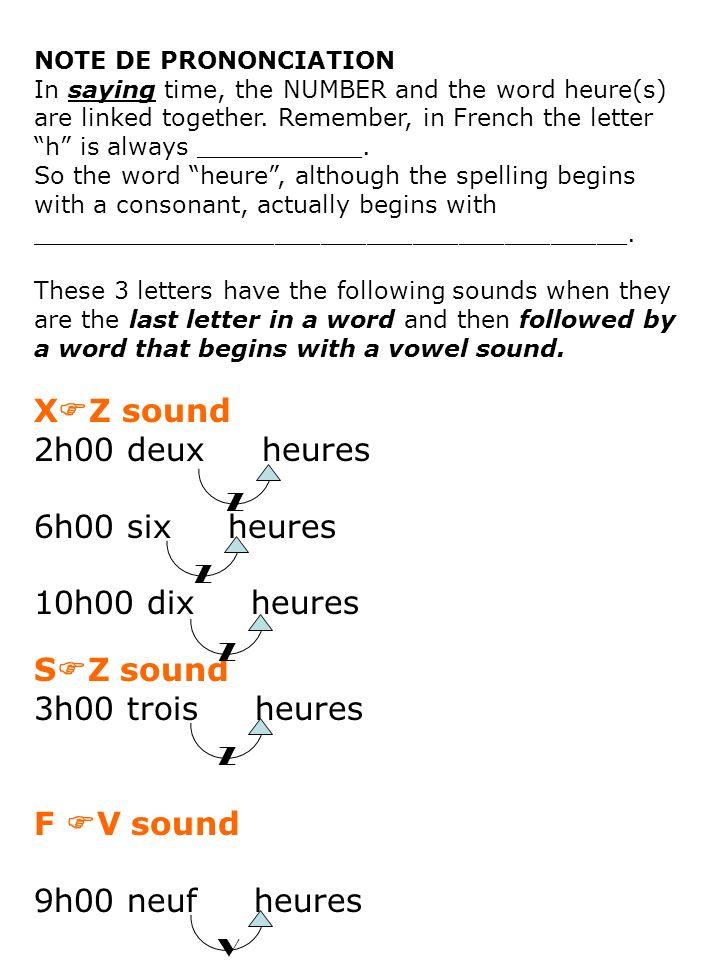 XZ sound 2h00 deux heures 6h00 six heures 10h00 dix heures SZ sound