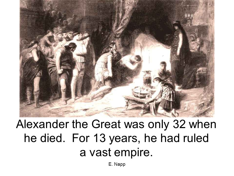 the contributions and influence of alexander the great on the world Alexander gave the single largest educational grant in history to aristotle to   the influence of the library continued for centuries, up to and.
