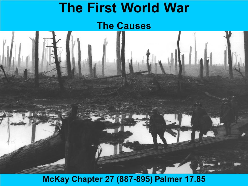 the causes of the first world war A summary of the first world war causes historians disagree about what 'caused' the first world war, but most trace it in some degree to the growing power of germany.