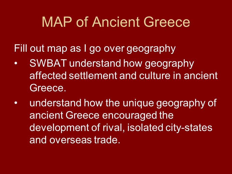 Geography affects culture