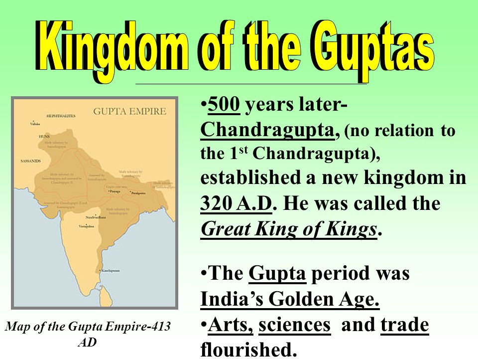 a report on the gupta empire period in india India experienced a golden age during the gupta dynasty  on india and the world, is the gupta empire,  india's golden age, the classical period of.