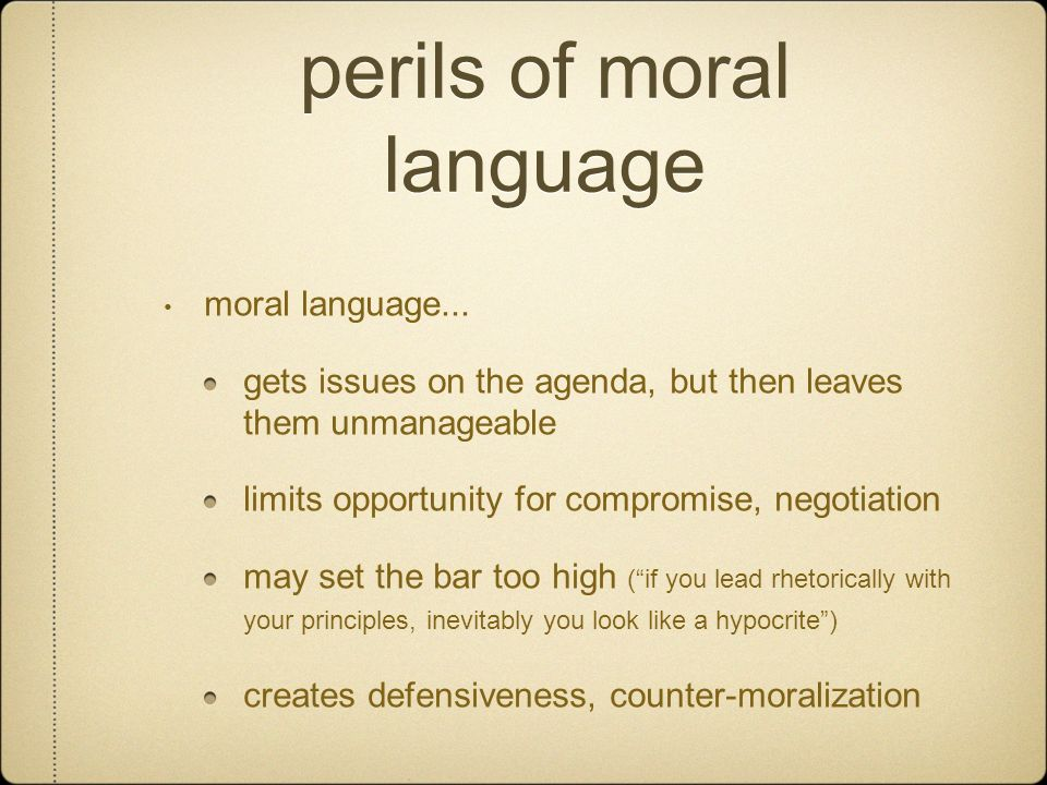 perils of moral language