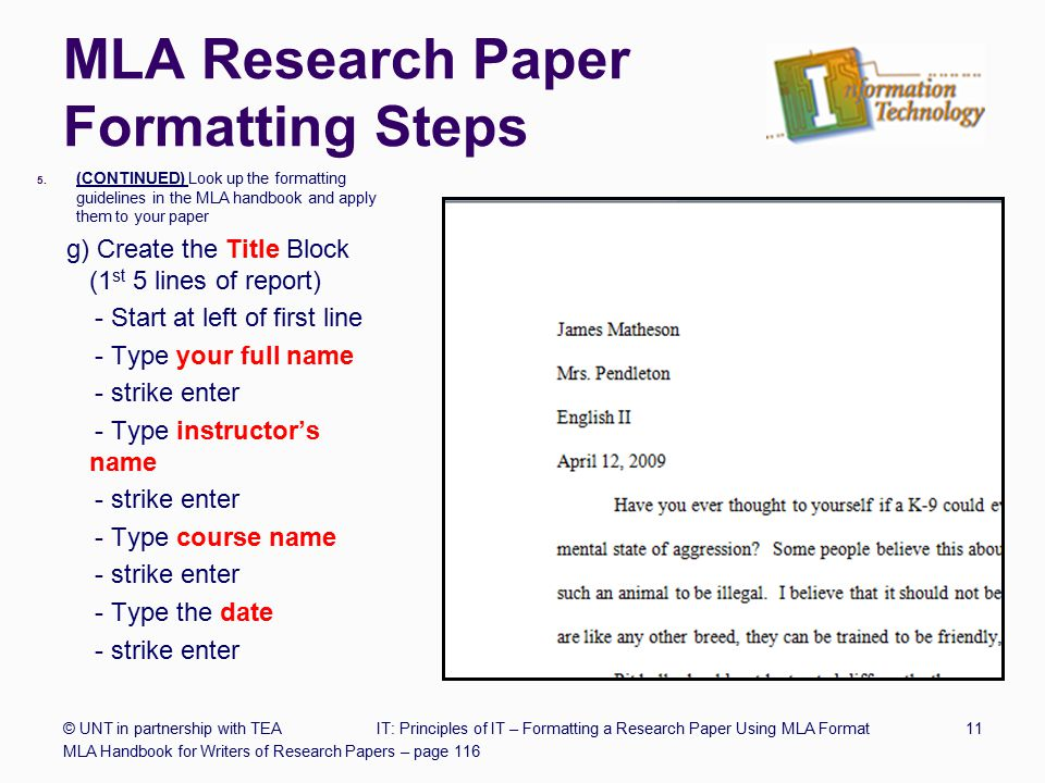 mla type research paper Want to cite a report in mla a report is a document containing the findings of an individual or group can include a technical paper, publication, issue brief, or.
