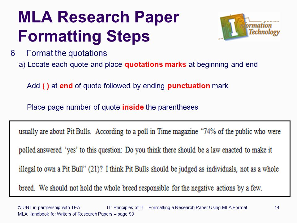 Sample Papers in MLA Style