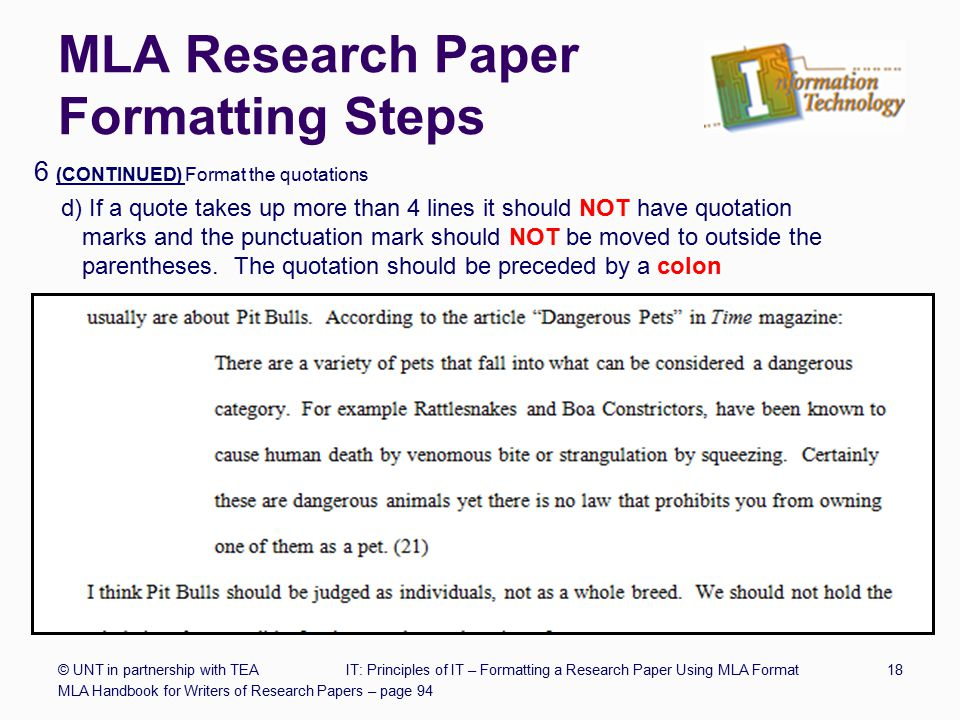 mla research paper quotation Quotes in a research paper mla format new if the long quotations in a research paper are making italics is critical to check with mla handbook 8th ed lcc.
