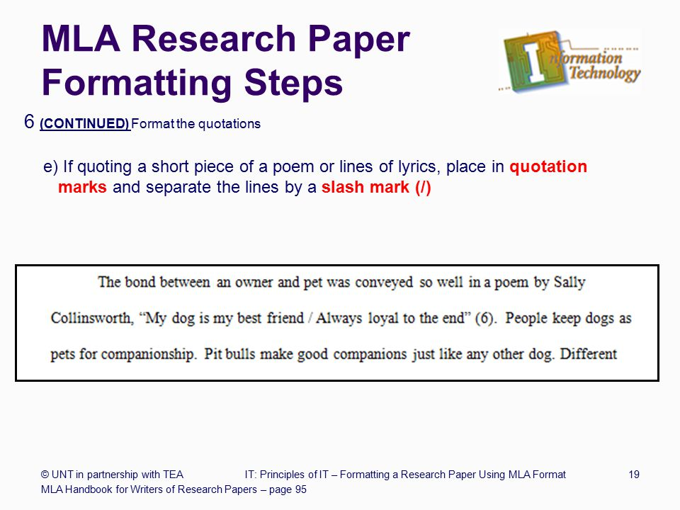 research paper steps mla