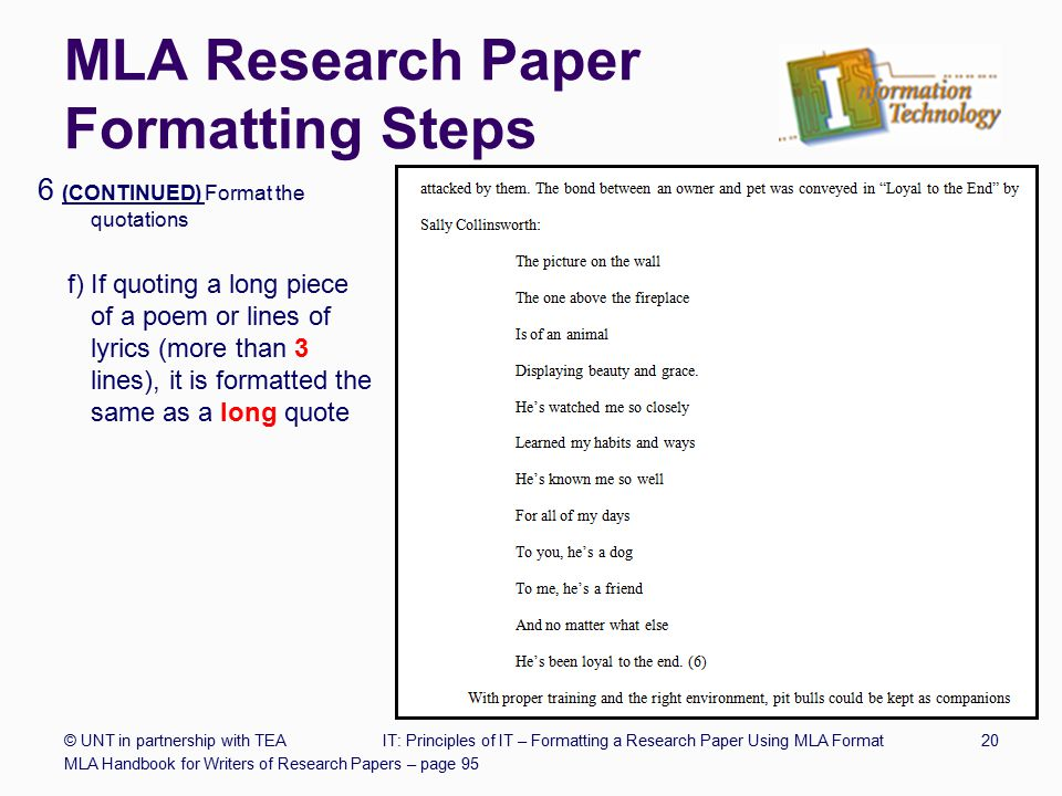 research writing paper format