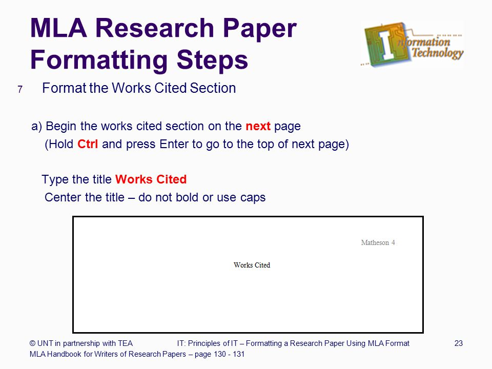 For Format Outline Paper Research