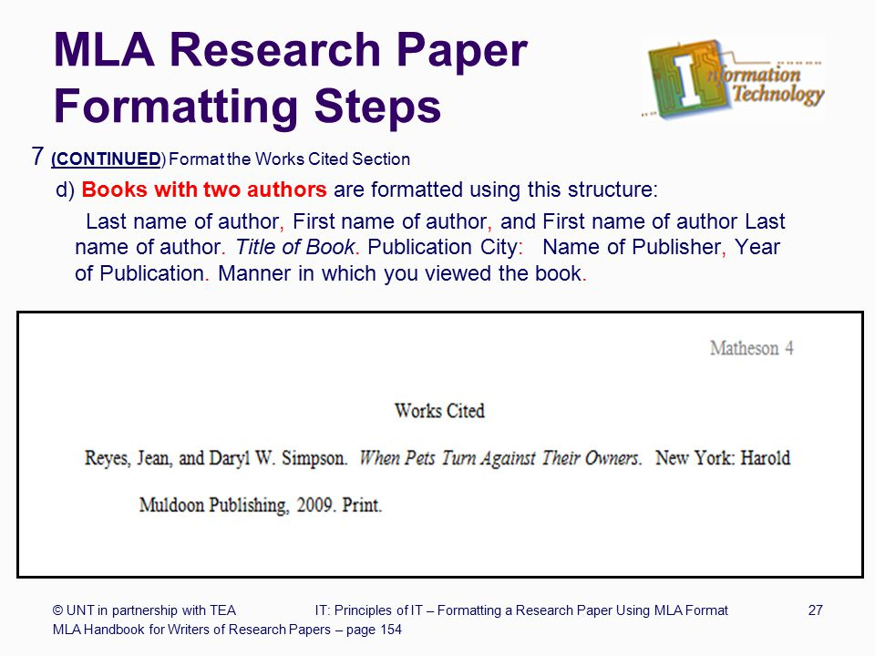 mla citing authors and titles in a research paper This guide shows you how to cite using mla 8th edition  your research paper ends with a list of all the sources cited in the text of the paper  the first word .