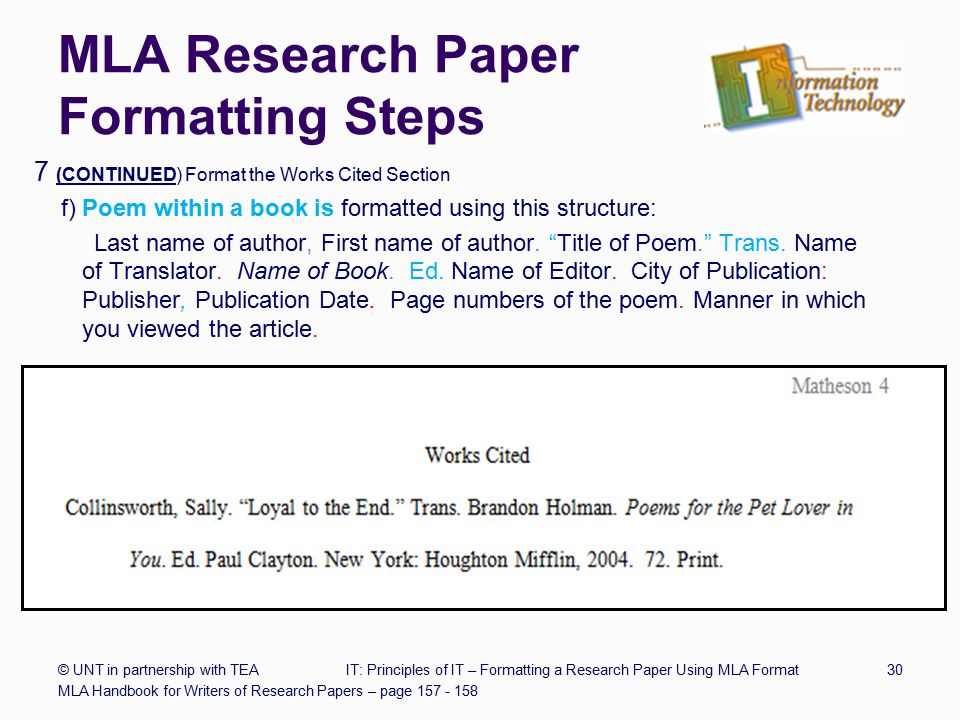 write research paper example