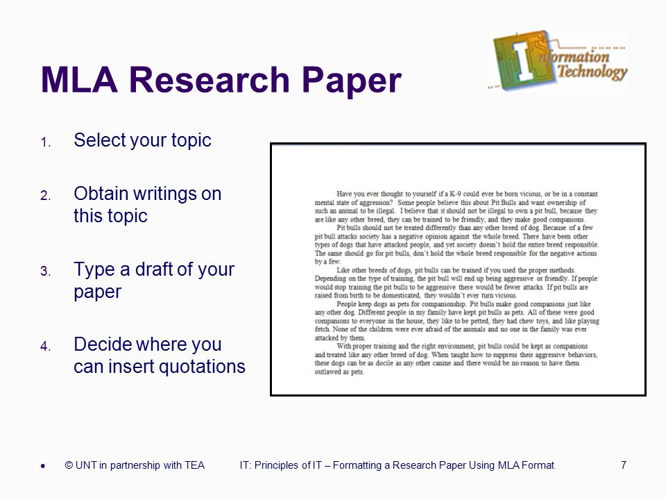 how to write a mla format paper