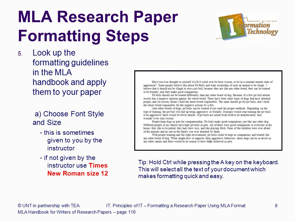 formatting a research paper mla style Research and citation mla style apa citation guide a title page is not essential for a research paper unless specifically requested by your teacher.