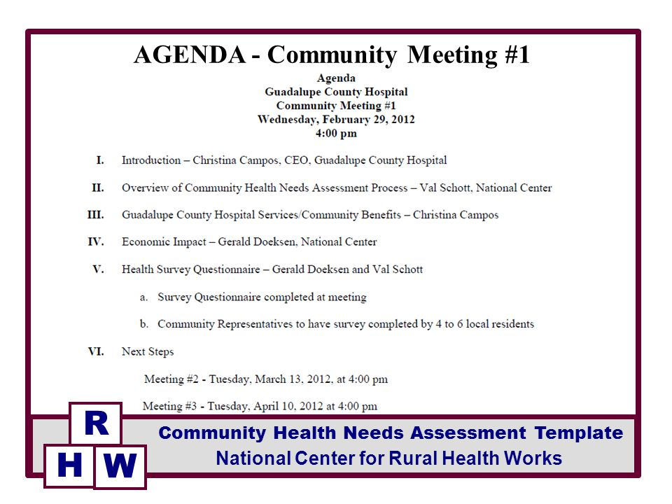 Agenda - Community Meeting #1 - Ppt Video Online Download