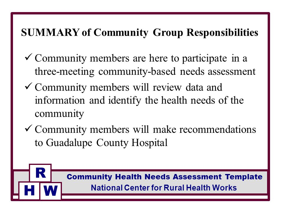 community needs assessment Comprehensive needs assessment comprehensive needs community at-large ideally, needs assessments are initially conducted to determine the needs.