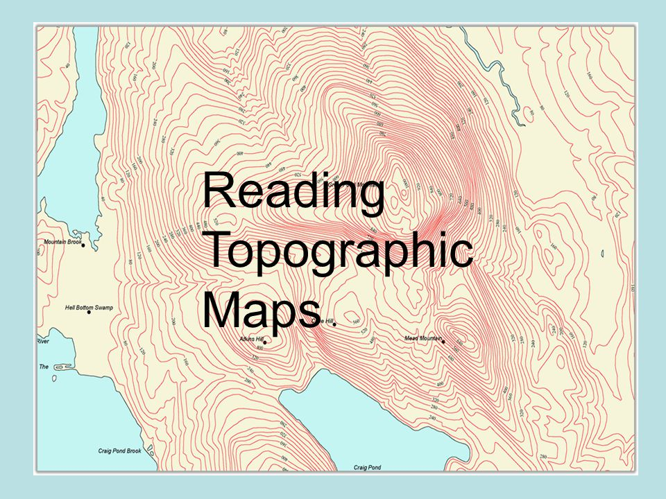 How to Read Topographic Maps - sciencestruck.com