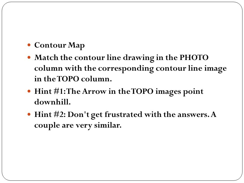 Contour Line Drawing Powerpoint : Checking in… p how do contour lines show elevation