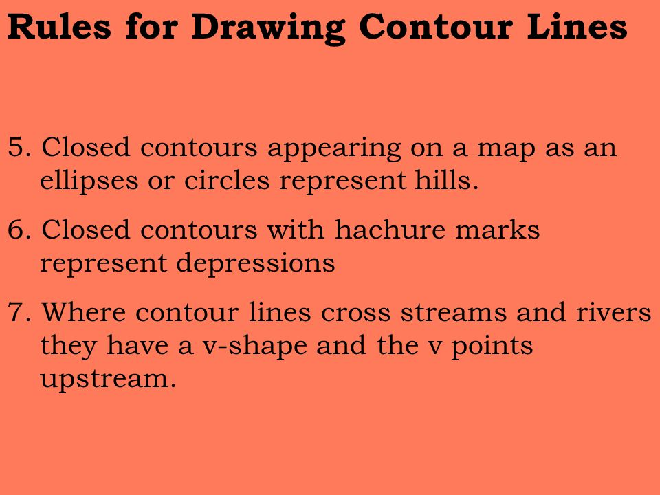 Contour Line Drawing Rules : Aim topographic maps do now ppt video online download