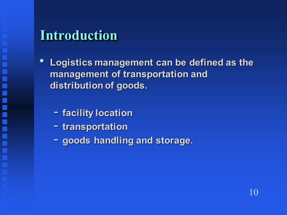 transportation and distribution management pdf