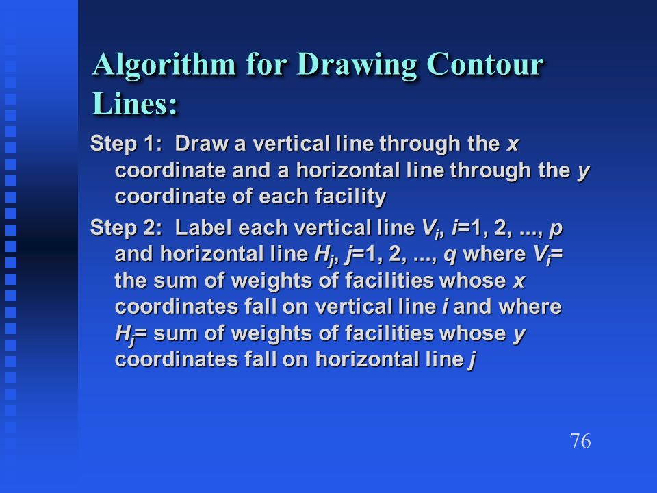 Vertical Line Drawing Algorithm : S heragu industrial engineering department university