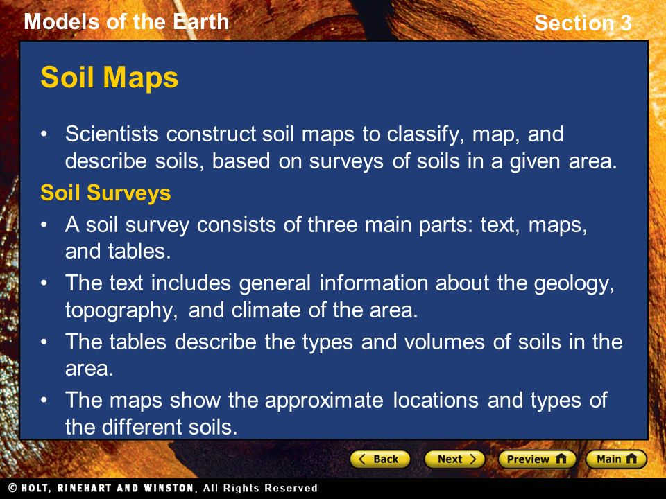 Section 3 types of maps preview objectives topographic for Describe soil
