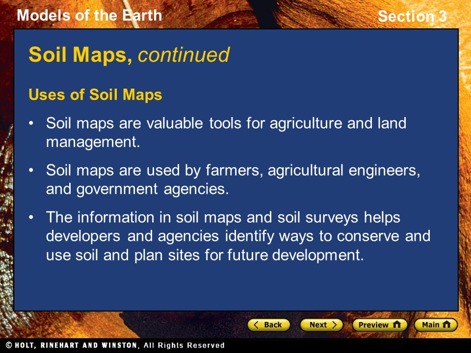 Section 3 types of maps preview objectives topographic for Soil and its uses